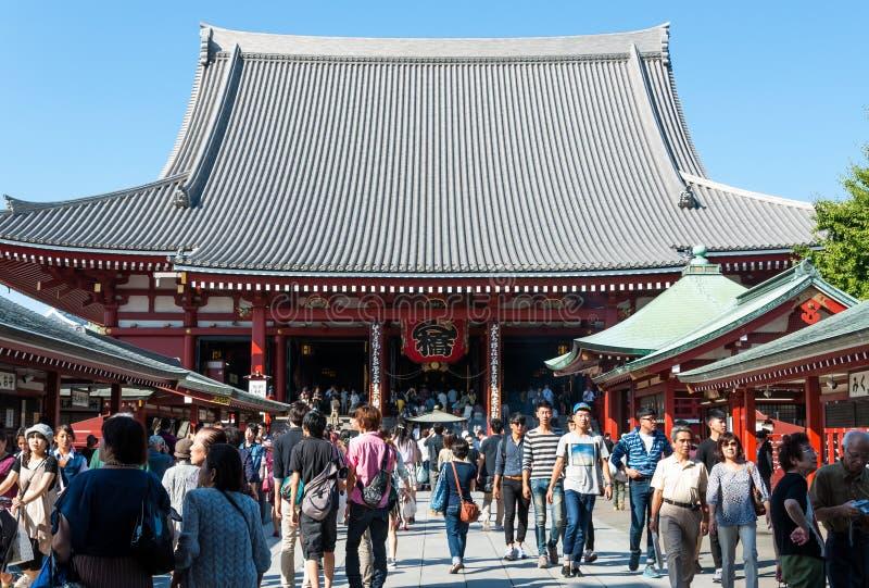 Temple de Sensoji images libres de droits