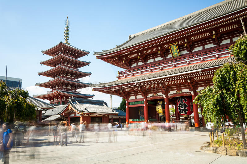 Temple de Sensoji photo stock