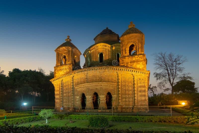Temple de Shyam Rai de Bishnupur, le Bengale-Occidental, Inde photos libres de droits