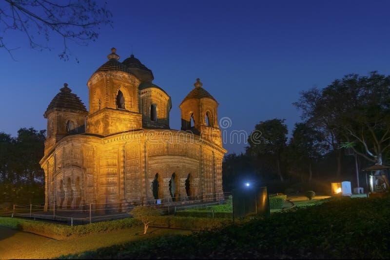 Temple de Shyam Rai de Bishnupur, le Bengale-Occidental, Inde images stock
