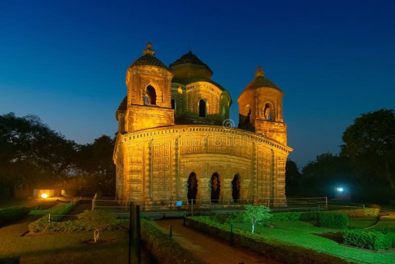 Temple de Shyam Rai de Bishnupur, le Bengale-Occidental, Inde photo stock