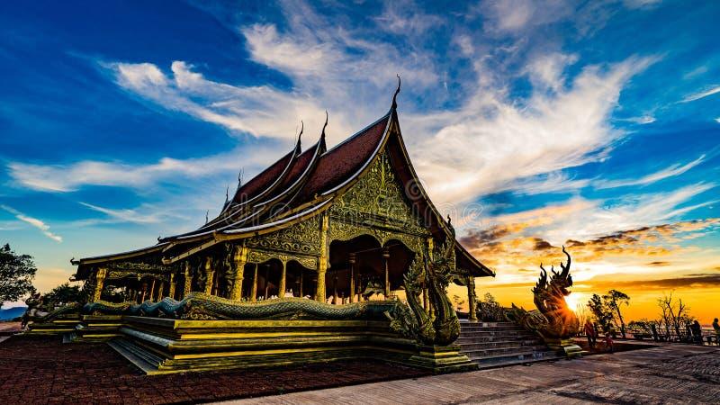Temple de Sirindhorn Wararam Phu Prao images libres de droits