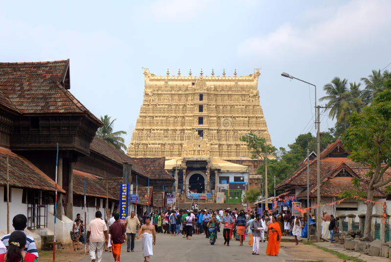 Temple de Sree Padmanabhaswamy. Thiruvananthapuram (Trivandrum), Kerala, Inde photo libre de droits