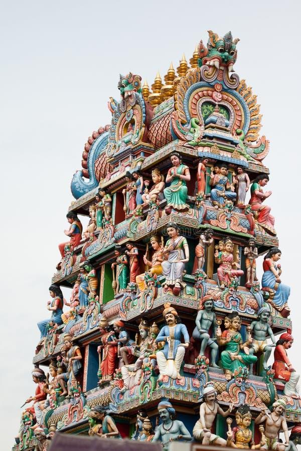 Temple de Sri Mariamman, temple hindou de Singapour images stock