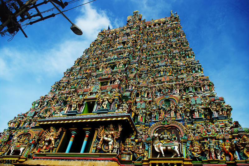 Temple de Sri Meenakshi image stock