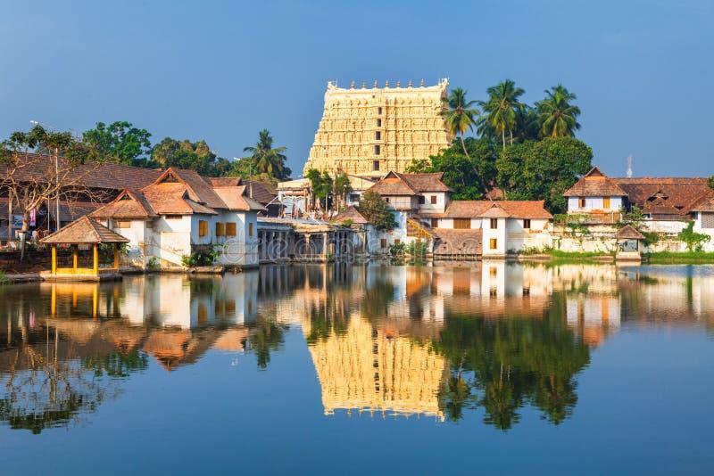 Temple de Sri Padmanabhaswamy dans l'Inde de Trivandrum Kerala photographie stock