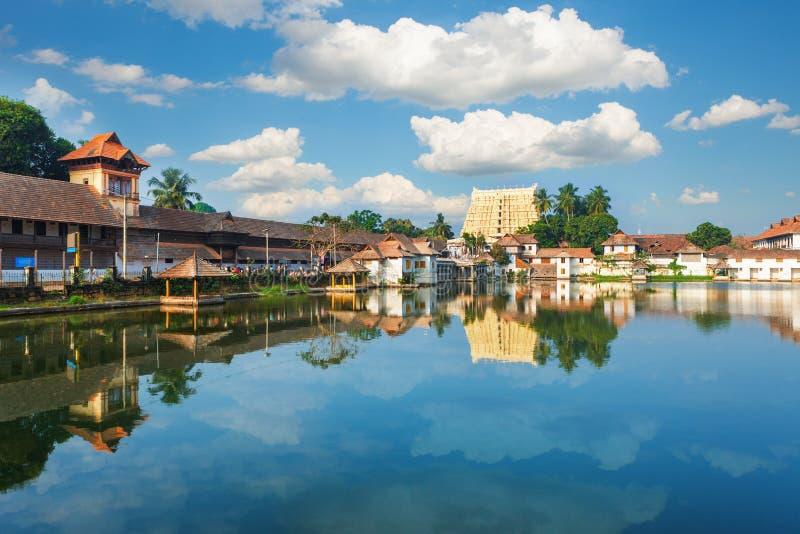 Temple de Sri Padmanabhaswamy dans l'Inde de Trivandrum Kerala photographie stock libre de droits