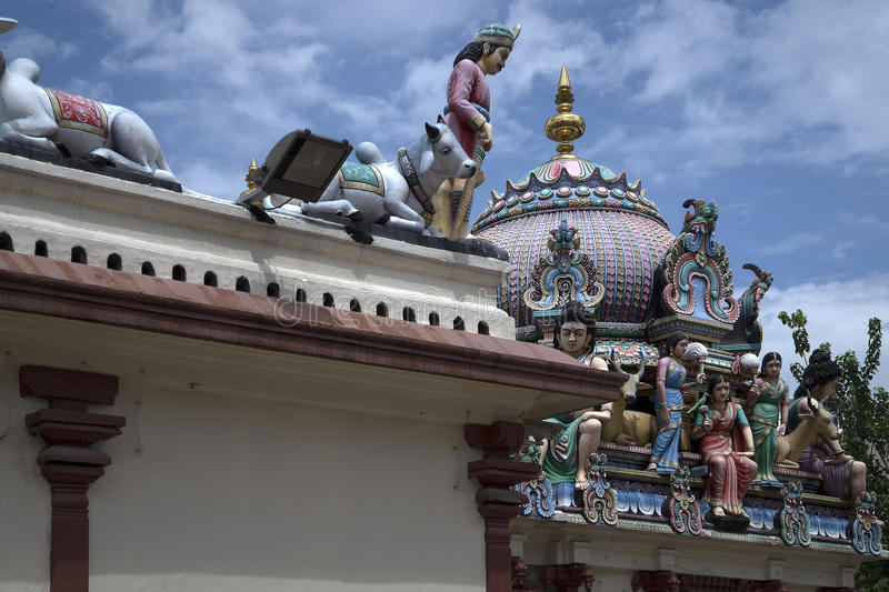 Temple de Sri Veeramakaliamman, peu d'Inde, Singapour photographie stock