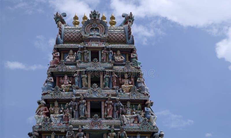 Temple de Sri Veeramakaliamman, peu d'Inde, Singapour photo libre de droits