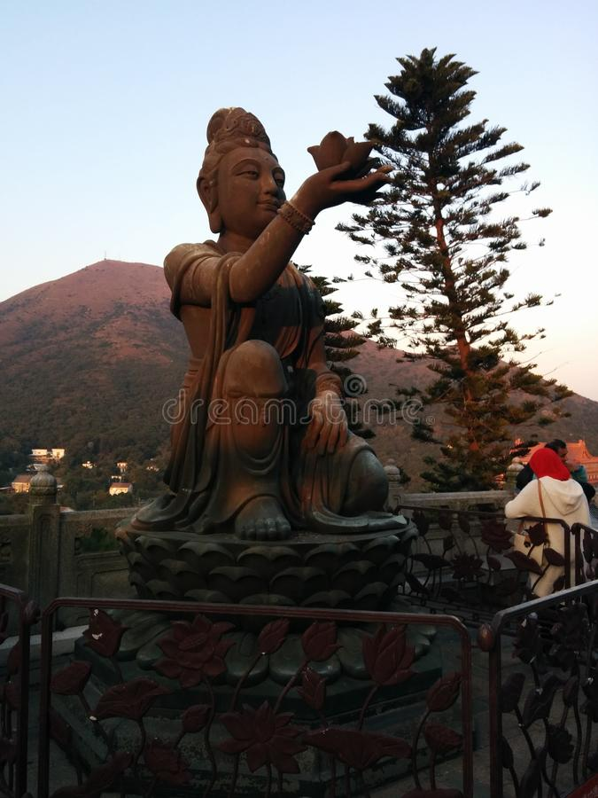 Temple de statue de Bouddha de bouddhisme de paix de la Chine photographie stock libre de droits