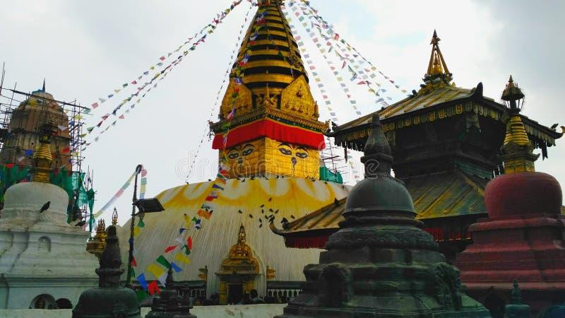Temple de Swayambhunath images libres de droits