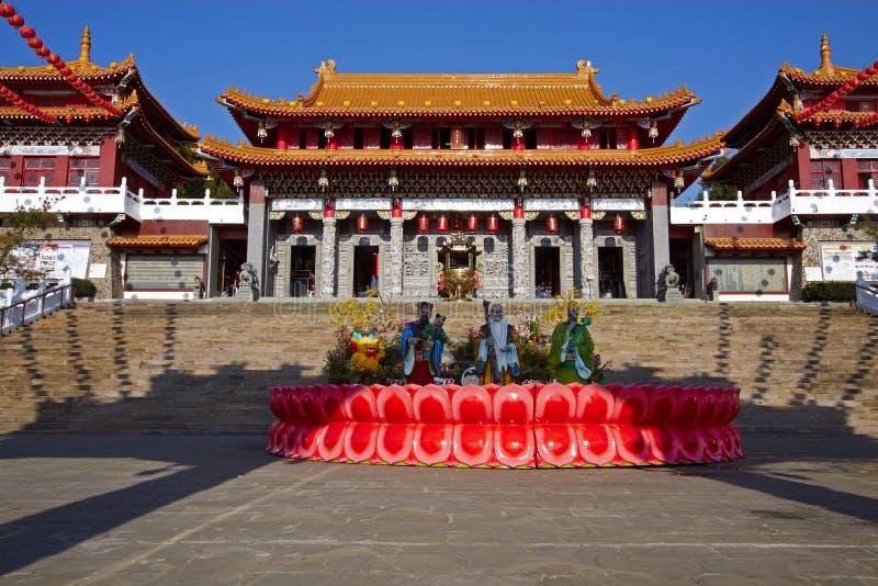 Temple de Taïwan Wenwu photo stock