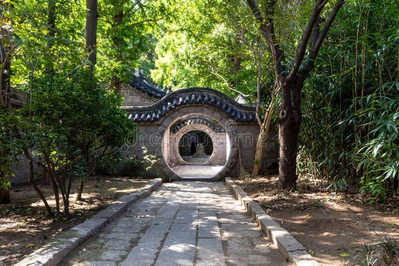 Temple de Taoist, montagne de Laoshan, Qingdao, Chine images libres de droits
