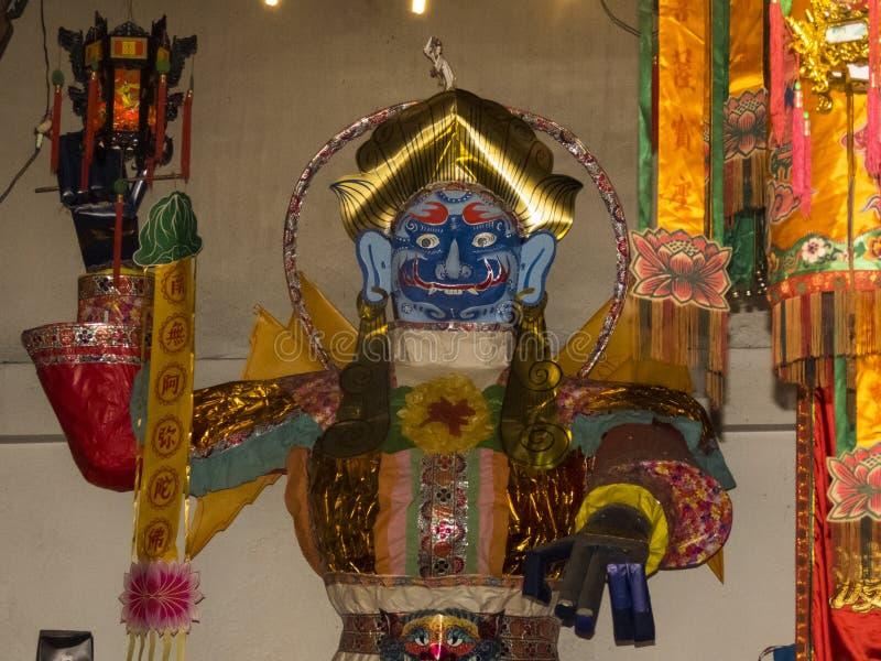 Temple de Tempat Suci kiw-ONG-ea, Trang, Thaïlande/festival chinois végétarien images libres de droits