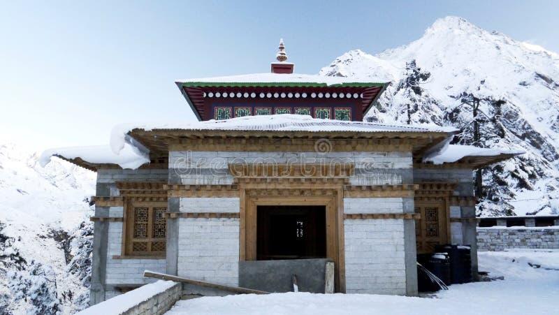 Temple de Tengboche photo libre de droits