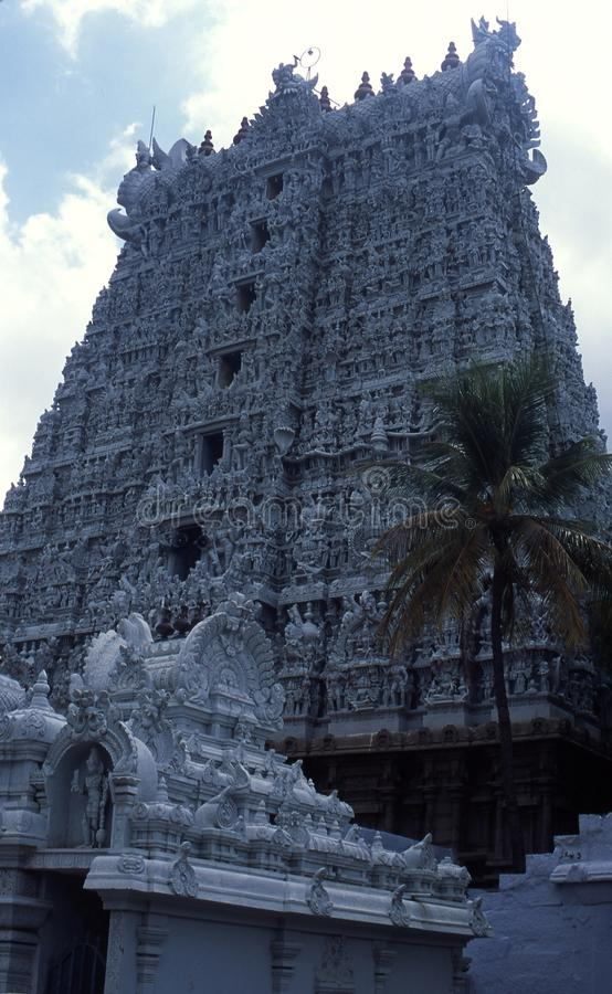 Temple de Thanumalayan, Sucheendram, Tamilnadu photos stock