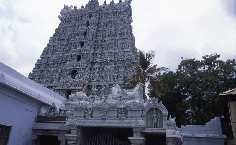 Temple de Thanumalayan, Sucheendram, Tamilnadu photo stock