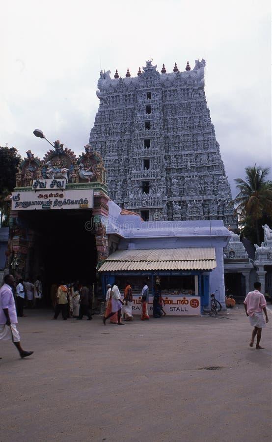 Temple de Thanumalayan, Sucheendram, Tamilnadu images libres de droits