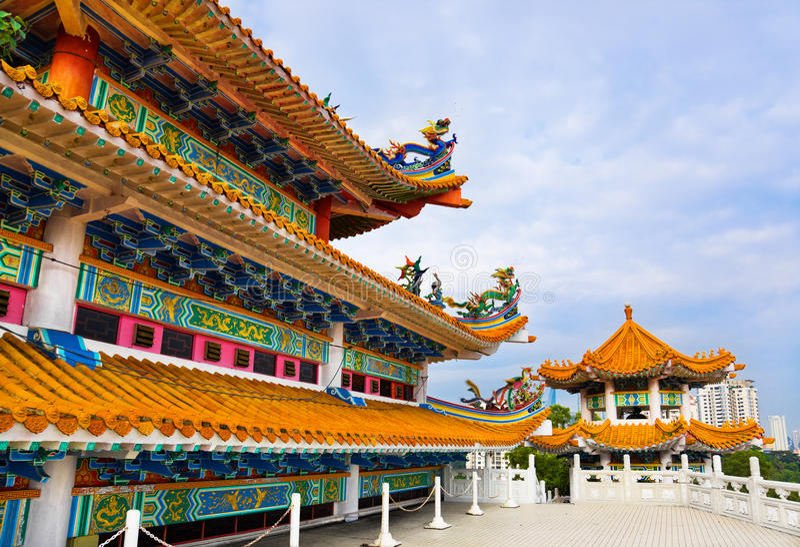 Temple de Thean Hou à Kuala Lumpur Malaisie photos libres de droits