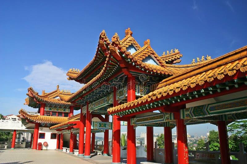 Temple de Thean Hou photographie stock