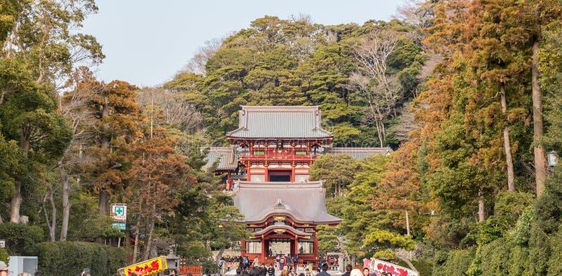 Temple de Tsurugaoka Hachiman-gÅ « photographie stock