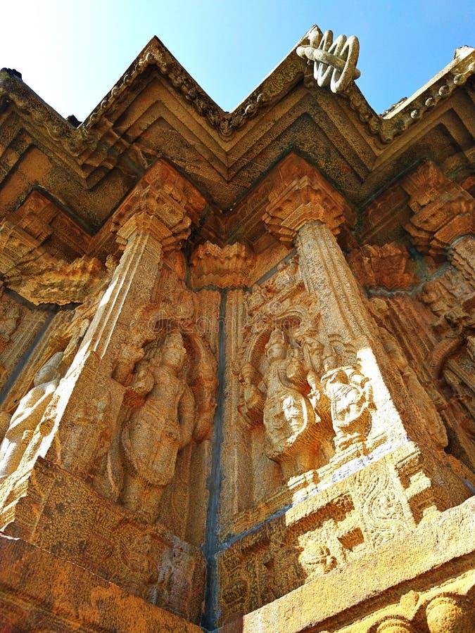 Temple de Vidyashankara à Sringeri image libre de droits