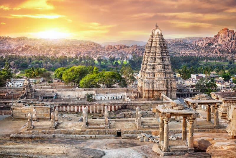 Temple de Virupaksha dans Hampi photos libres de droits