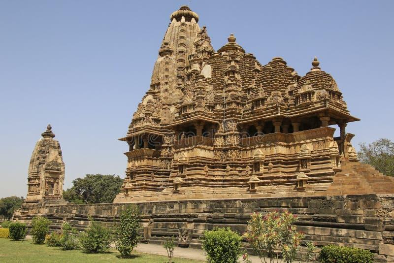 Temple de Vishwanatha, temples occidentaux de Khajuraho, Inde photos libres de droits