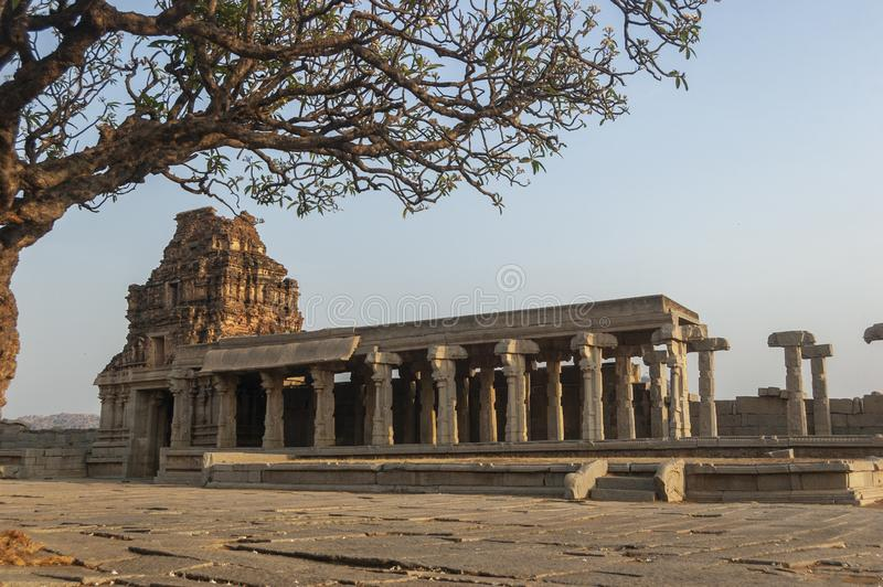 Temple de Vittala dans la lumière de matin au hampi, Karnataka, Inde photos stock