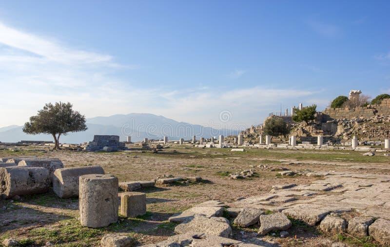 Temple de vue d'Athéna photo libre de droits