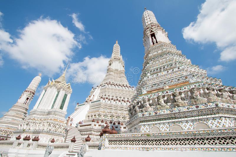 Temple de Wat Arun à Bangkok, Thaïlande image libre de droits