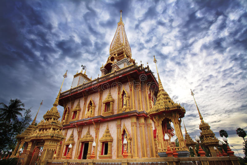 Temple de Wat Chalong à Phuket photos stock