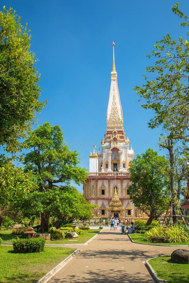 Temple de Wat Chalong à Phuket photos libres de droits