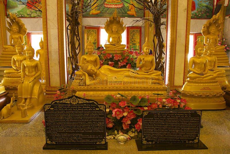 Temple de Wat Chalong - intérieur, Thaïlande image libre de droits