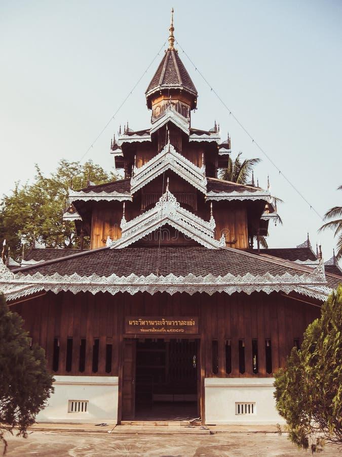 Temple de Wat Hua Wiang, Mae Hong Son, Thaïlande photographie stock libre de droits