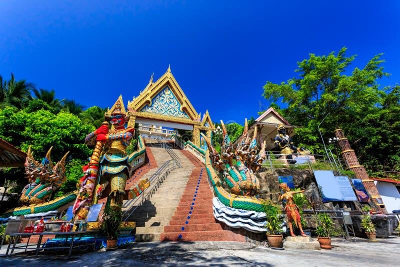 Temple de Wat Khao Rang au matin ensoleillé Phuket thailand image stock