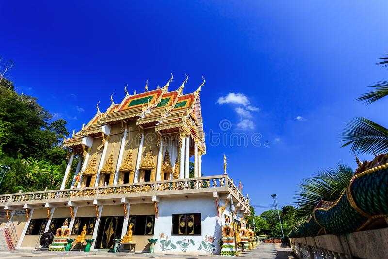Temple de Wat Khao Rang au matin Phuket thailand photo libre de droits