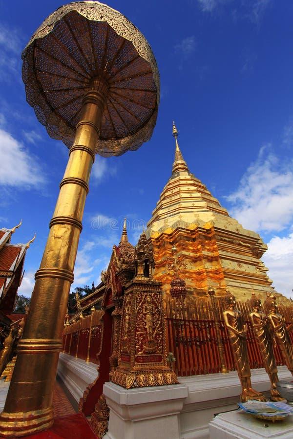Temple de Wat Phra That Doi Suthep en Chiang Mai, Thaïlande image libre de droits