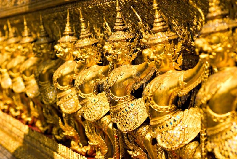 Temple de Wat Phra Kaeo, Bangkok, Thaïlande. photographie stock libre de droits