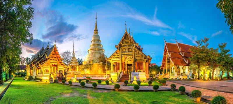 Temple de Wat Phra Singh au vieux centre de ville de Chiang Mai photos libres de droits
