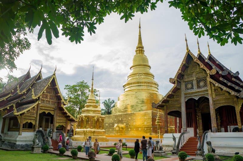 Temple de Wat Phra Singh photographie stock