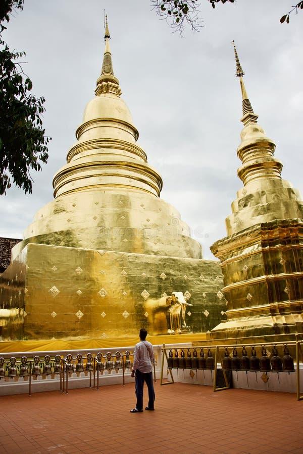 Temple de Wat Phra Singh en Chiang Mai photo stock