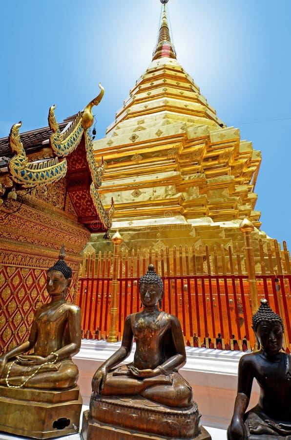 Temple de Wat Phrathat Doi Suthep image stock