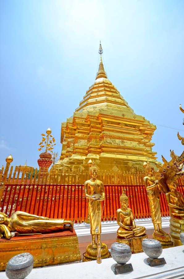 Temple de Wat Phrathat Doi Suthep images libres de droits