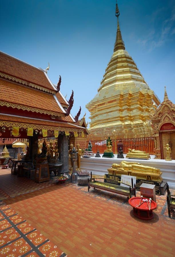 Temple de Wat Phrathat Doi Suthep photos stock