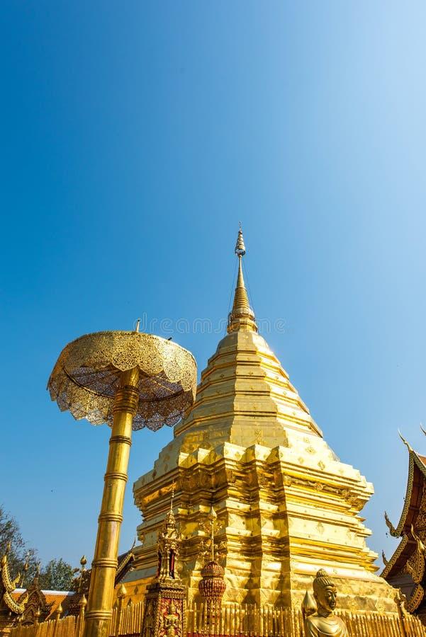 Temple de Wat Phrathat Doi Suthep en Chiang Mai, Thaïlande image libre de droits