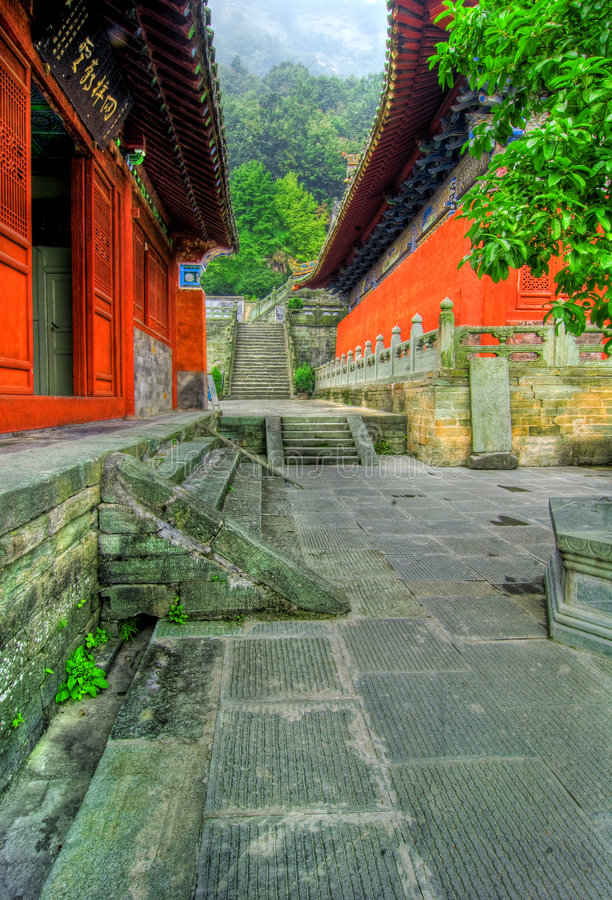 Temple de Wudang Shan   photo libre de droits