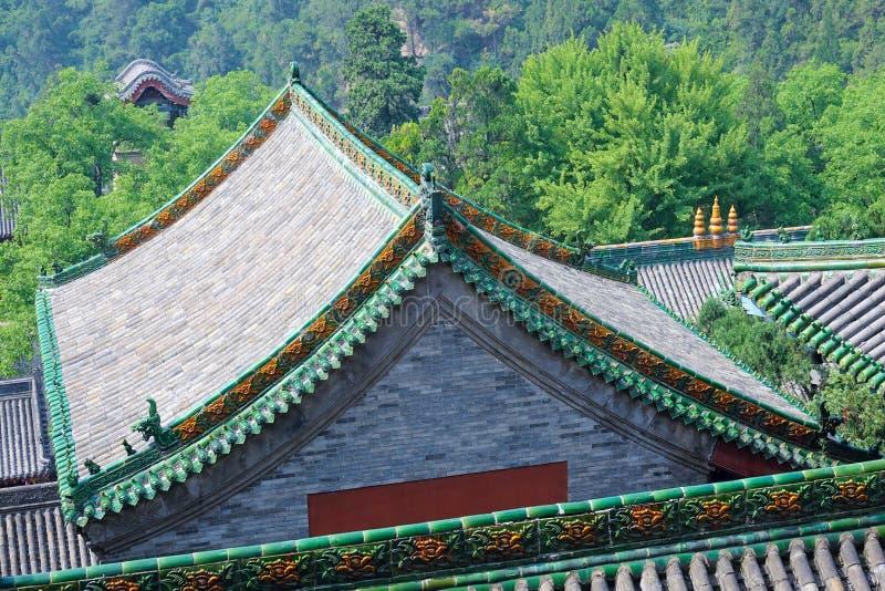 Download Temple de Xuanzhong photo stock. Image du rooftop, arbre - 76080036