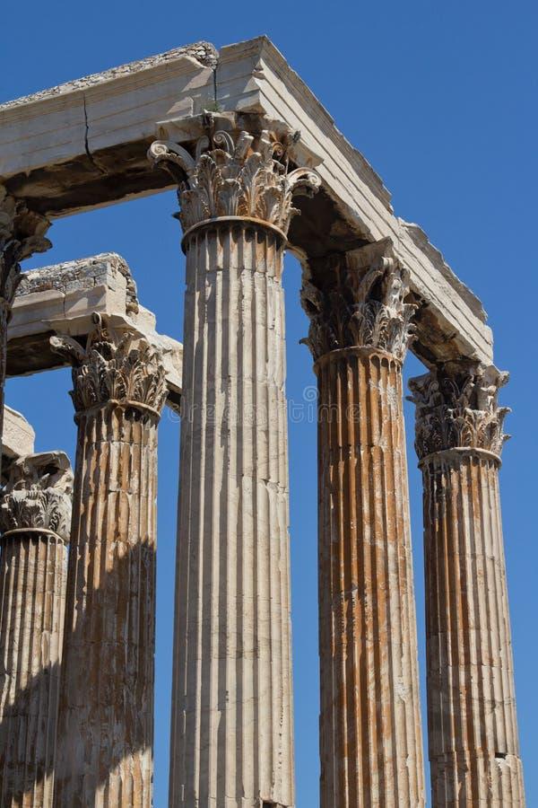 Temple de Zeus à Athènes, Grèce photos stock