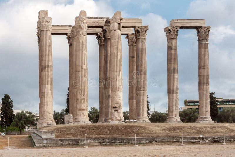 Temple de Zeus Athens olympien photo libre de droits
